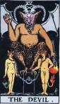 El diablo del Tarot Rider Waite