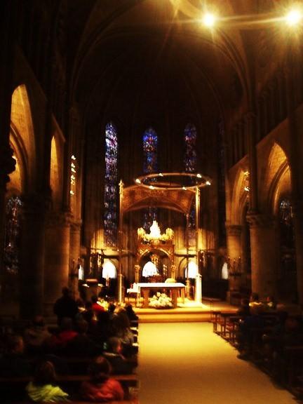 Interior de la iglesia de Roncesvalles