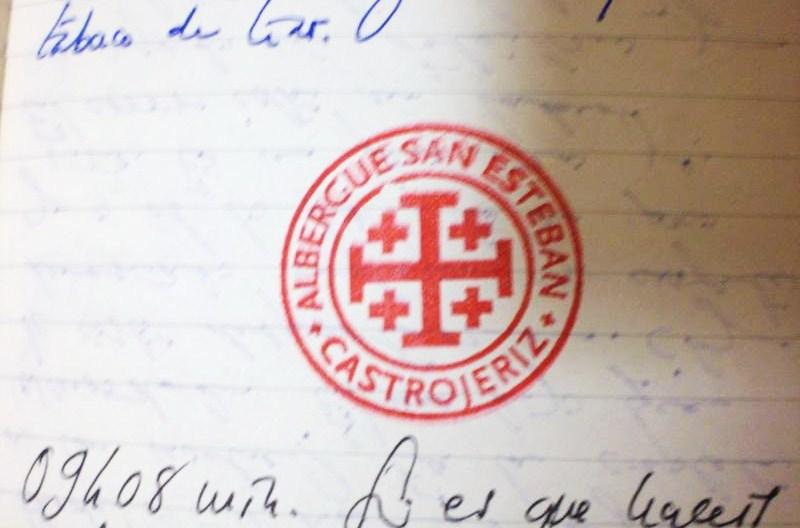 Sello del abergue San Esteban Castrojeriz