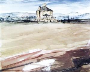 Eunate pintada por Antón Hurtado