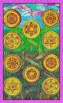 Diez de Oros del Tarot de Cristal