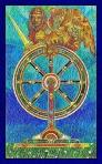 El arcano de la rueda del Tarot de Cristal