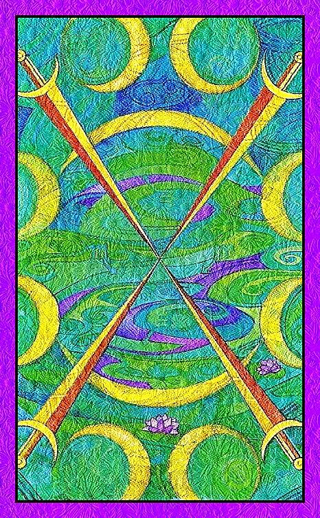 El Cuatro de espadas del Tarot de Cristal