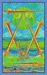 El Seis de Espadas del Tarot de Cristal