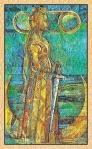 La Reina de  Espadas del Tarot de Cristal