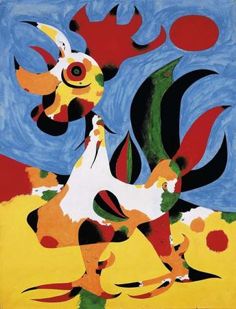 Gallo óleo Sobre Lienzo Le Coq 1940 Joan Miró