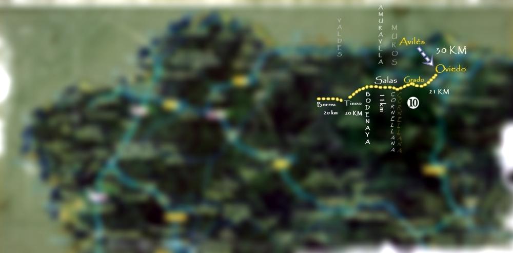 Mapa de mi Camino