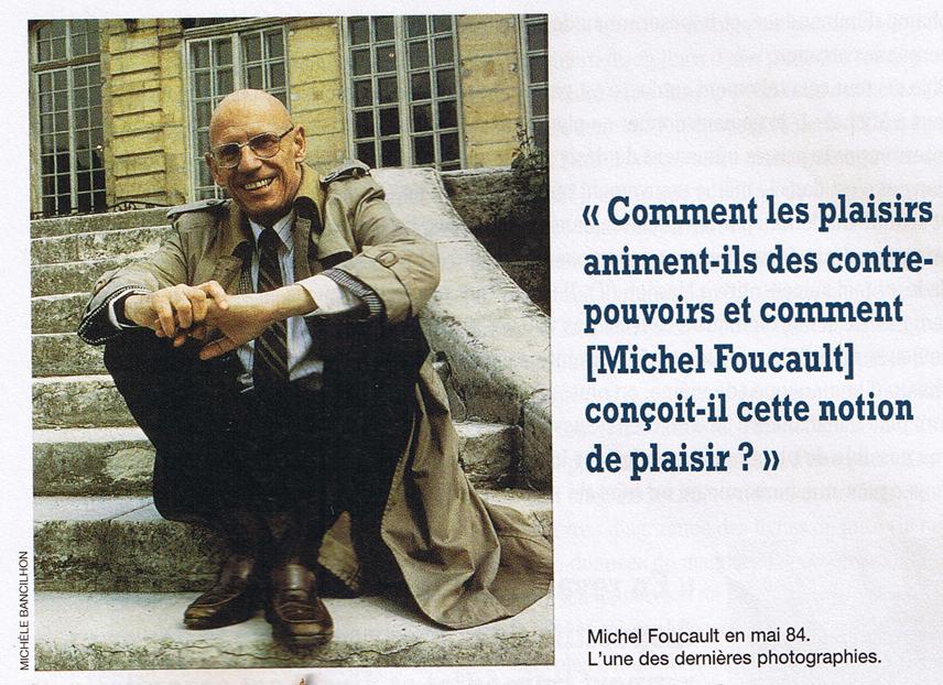 Foucault en mayo de 1984 antes de morir de SIDA