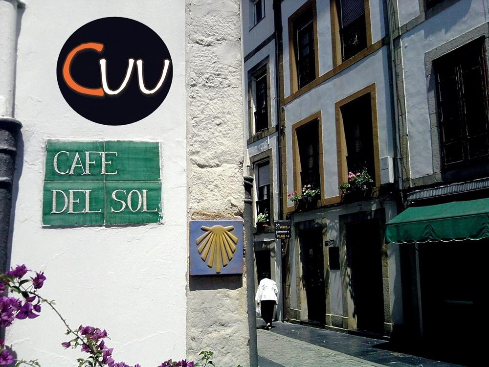 El café del Sol en la calle del Sol de Villaviciosa