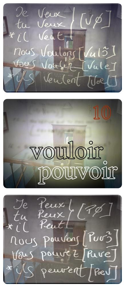 VOULOIR EST POUVOIR. Los paradigmas del QUERER ES PODER o 10º grupo de la conjugaison de los verbos  en français