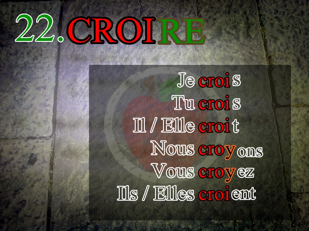La Conjugaison Du Verbe Croire La Conjugacion Del Verbo Creer Grupo 22º Participe Passe Cru Extemporanea
