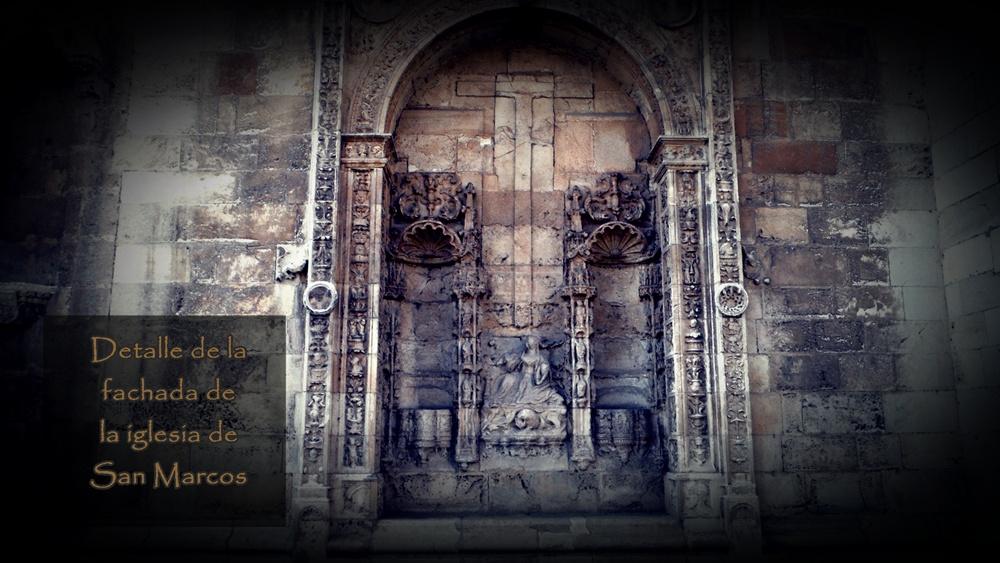 Detalle de la Fachada de El Hostal San Marcos