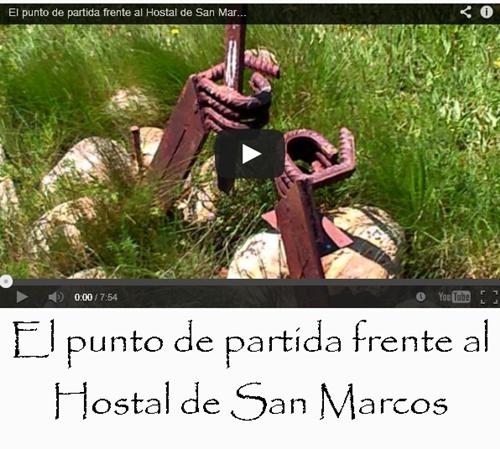 El punto de partida frente al Hostal de San Marcos en León