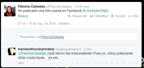 Twiter de Paloma Cabadas