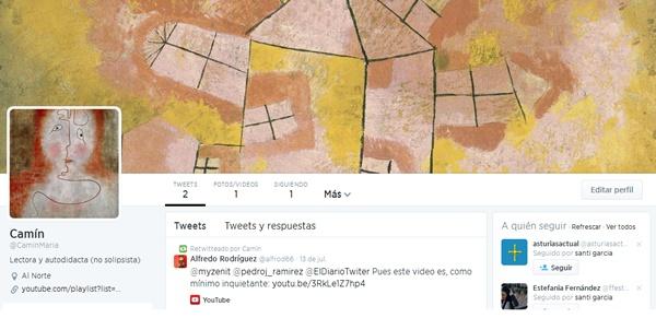 Twiter de Camín María