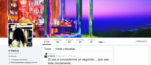 Twitter de María Camín