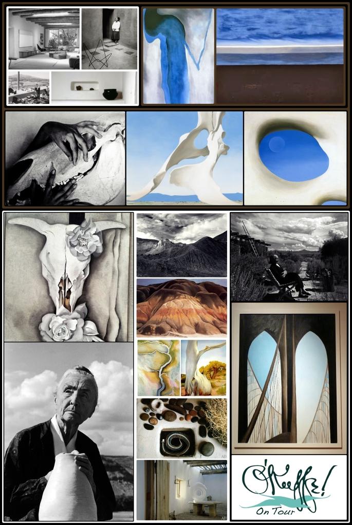 composición Georgia O'Keeffe para el vinilo microperforado de ventana