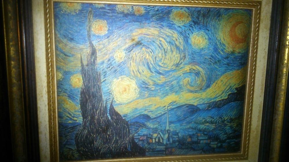 El cielo de la noche estrellada de Van Gogh