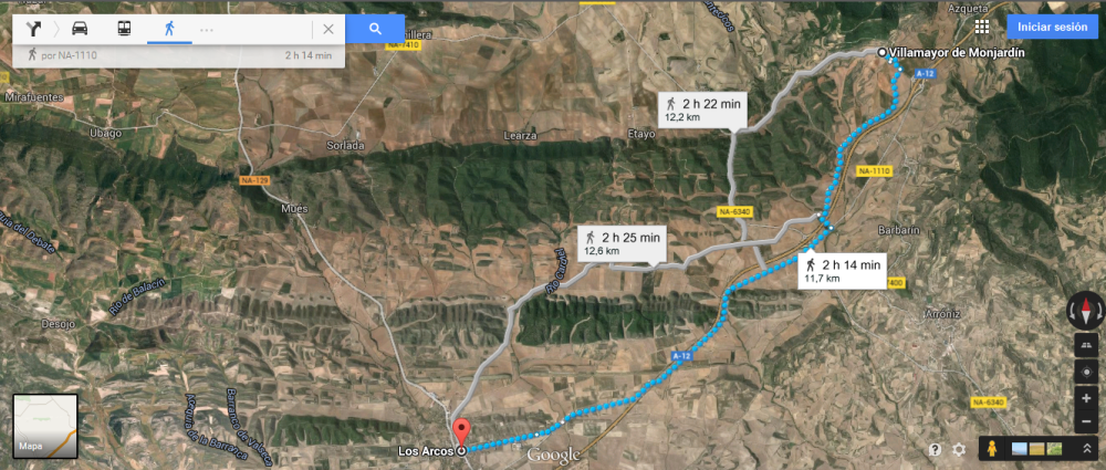 Google maps a Los Arcos