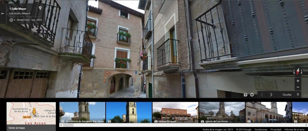 Los Arcos en Navarra calle Mayor