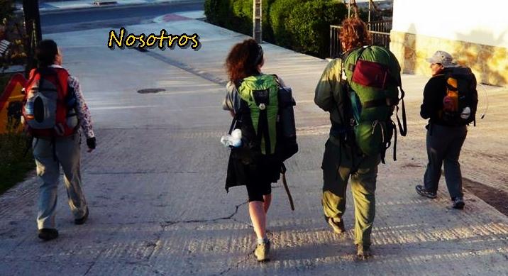 Nosotros de camino a Irache