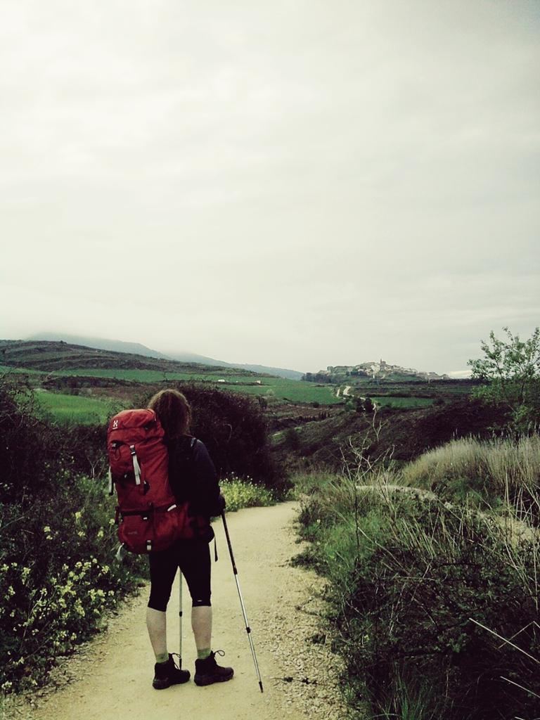 Peregrina en el Camino