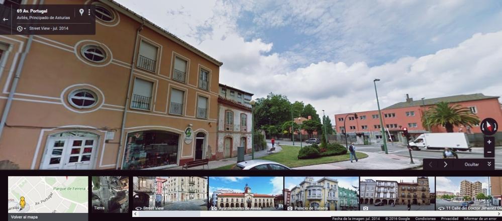 Al final de la Avenida de Portugal