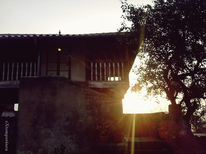 El amanecer en la aldea de Orbón de arriba