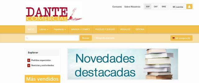 Dante Comercial librería en Vera Almería