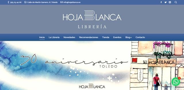 Hoja Blanca librería en Toledo