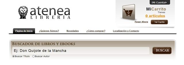 Librería Atenea en Zafra