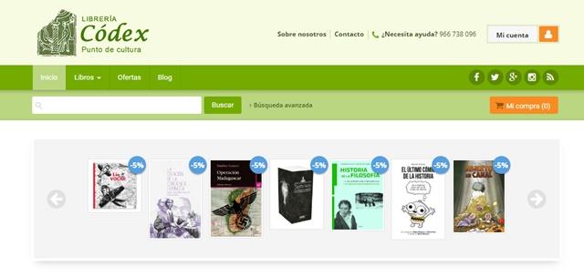 librería Códex Orihuela Alicante