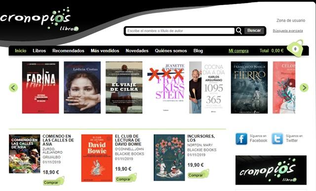 librería Cronopios libros en Pontevedra