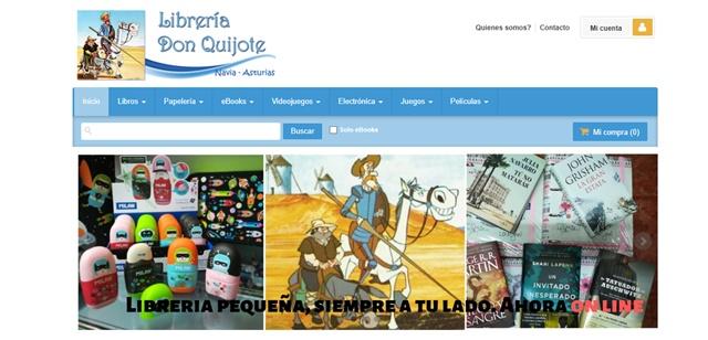 librería Don Quijote en Navia Asturias