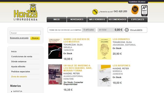 Librería Hontza de Donostia