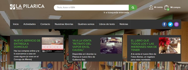 Librería La Pilarica en Mieres Asturias