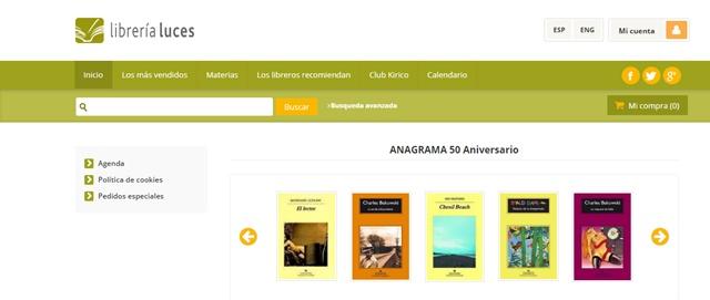 Librería Luces en Málaga