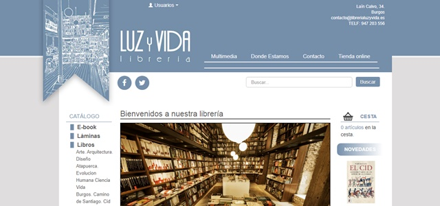 Librería Luz y Vida de Burgos