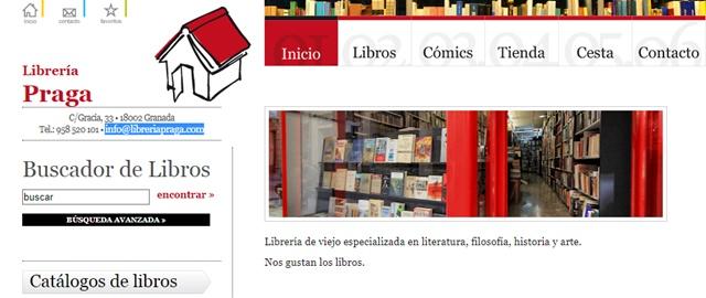 Librería Praga en Granada
