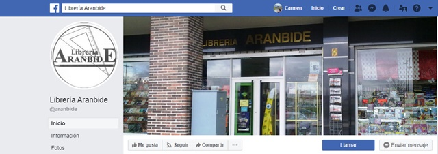Libreria Aranbide en Vitoria Gasteiz