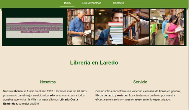 librería Costa Esmeralda en Laredo