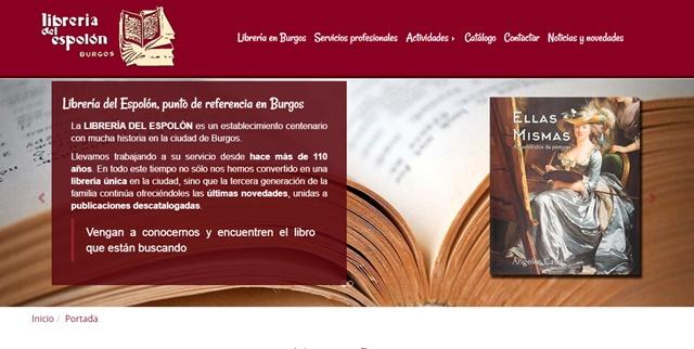 librería del Espolón en Burgos
