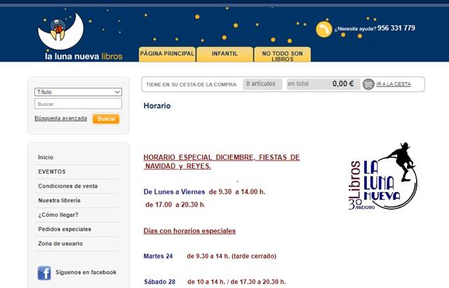librería luna nueva en Jerez de la Frontera Cádiz