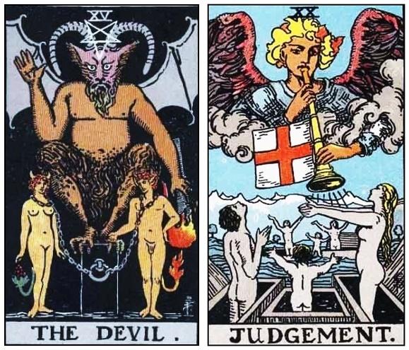 El diablo y el juicio en el Tarot