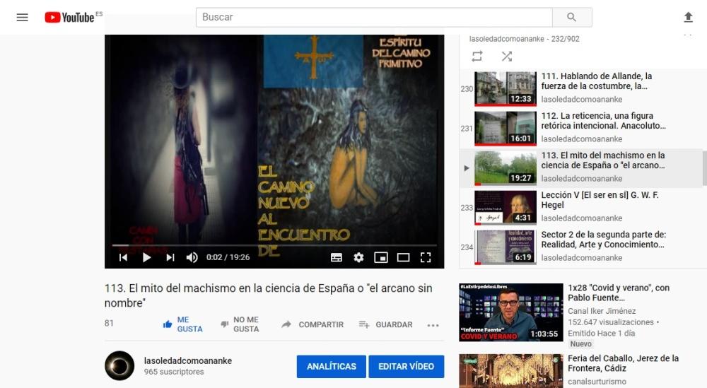 El mito del machismo en la ciencia de España o ''el arcano sin nombre''