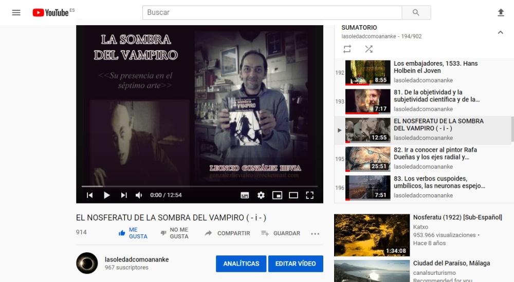 EL NOSFERATU DE LA SOMBRA DEL VAMPIRO ( - i - )