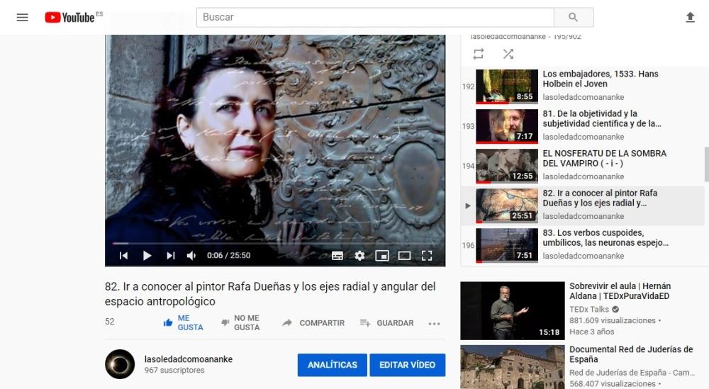 Ir a conocer al pintor Rafa Dueñas y los ejes radial y angular del espacio antropológico