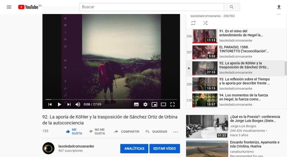 La aporía de Köhler y la trasposición de Sánchez Ortiz de Urbina de la autoconciencia