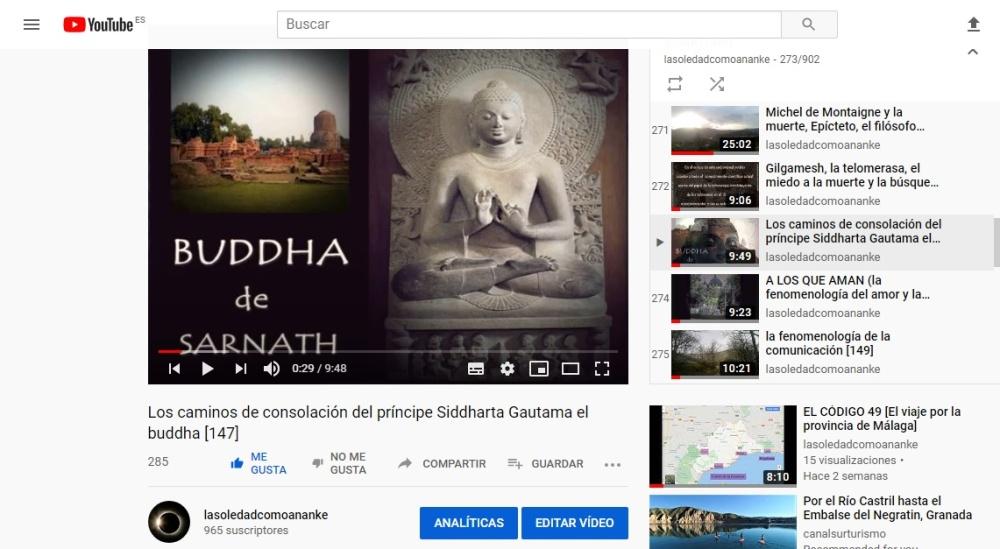 Los caminos de consolación del príncipe Siddharta Gautama el buddha